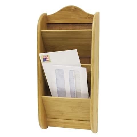 Home Basics Natural 3-tier Bamboo Letter Rack