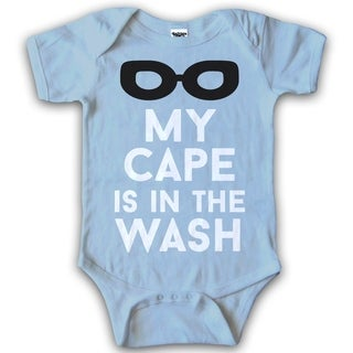 Infant My Cape Is In the Wash Superhero Baby Creeper One Piece Romper Bodysuit in Blue