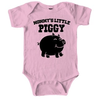 Mommys Little Piggy Cute Piglet Baby Creeper Bodysuit for Infants in Pink
