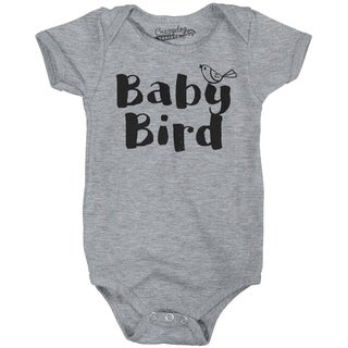 Baby Bird Funny Infant Shirts Cute Baby Creeper Family Adorable Infant Bodysuit in Grey