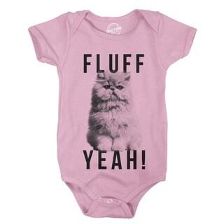 Creeper Fluff Yeah Funny Cat Kitten Pet Lover Bodysuit for Newborn Baby