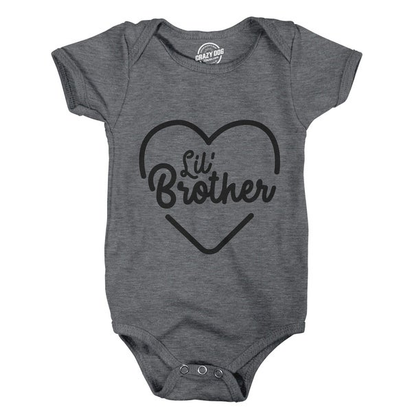 Creeper Lil Brother Baby Bodysuit Adorable Jumper for Newborn Boy
