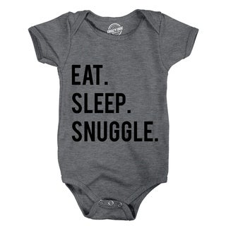 Creeper Eat Sleep Snuggle Baby Bodysuit Adorable Infant Lifestyle Jumpsuit