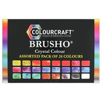 Brusho Crystal Color Set 24 Color