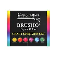 Brusho Crystal Color Set 6 Color Craft Spritzer