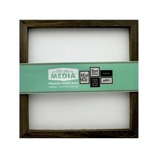 Jilibean Soup Mix/Media Rustic Frame 10x10 White
