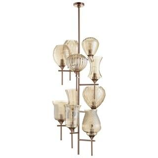 Darcey 10-light Iron/ Glass Chandelier