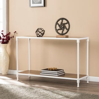 Lavra Industrial Rectangular Console Table w/ Storage Shelf