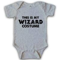 Baby This Is My Wizard Costume Halloween Bodysuit Creeper for Infants in Grey