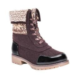 Women's MUK LUKS Jandon Ankle Boot Brown/Snowflake Polyester