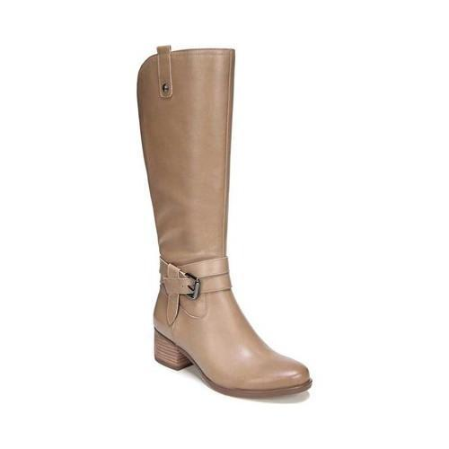 ae1558a0d63c Shop Women s Naturalizer Dev Riding Boot Oatmeal Leather - Free Shipping  Today - Overstock - 19315651