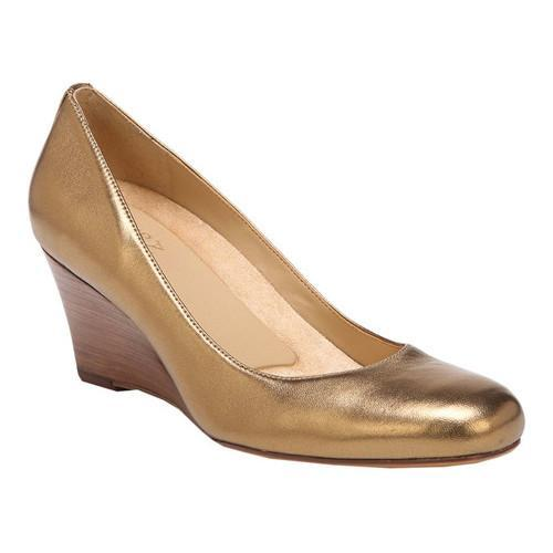 066292673f7 Shop Women s Naturalizer Emily Wedge Aged Gold Metallic Leather - Free  Shipping Today - Overstock.com - 19315656