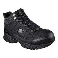 Men's Skechers Work Ledom Steel Toe Waterproof Boot Black