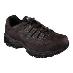 Men's Skechers Work Relaxed Fit Crankton Steel Toe Shoe Brown - Thumbnail 0