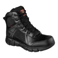 Men's Skechers Work Telfin Sawaga Waterproof Boot Black
