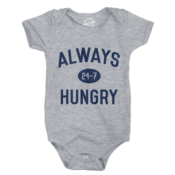 Creeper Always Hungry Funny Newborn Bodysuit for Baby
