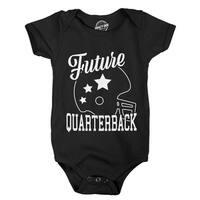 Creeper Future Quarterback Adorable Football Sports Bodysuit for Newborn Baby