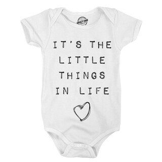 Creeper its the Little Things In Life Cute Adorable Baby Bodysuit for Newborn