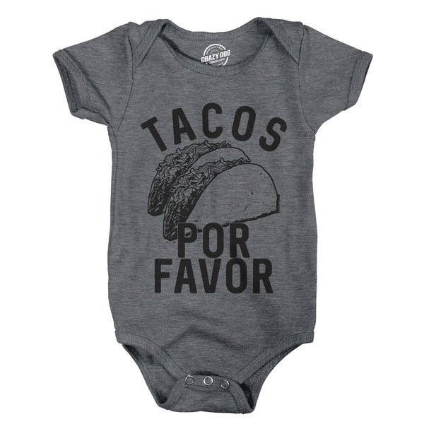 Creeper Tacos Por Favor Funny Cinco De Mayo Bodysuit for Newborn Baby