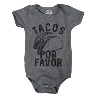Creeper Tacos Por Favor Funny Cinco De Mayo Bodysuit for Newborn Baby