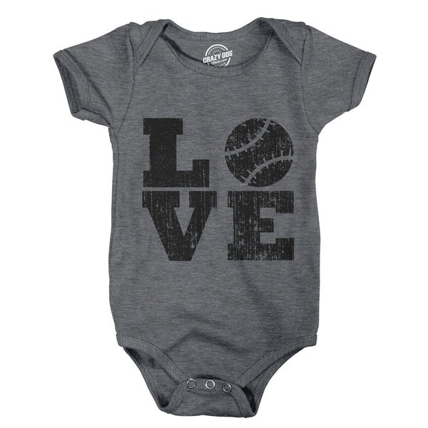 shop creeper love baseball cute baby bodysuit cool sports for infant