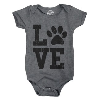 Creeper Love with Paw Baby Bodysuite Adorable Pet Kitty Puppy Infant Clothes