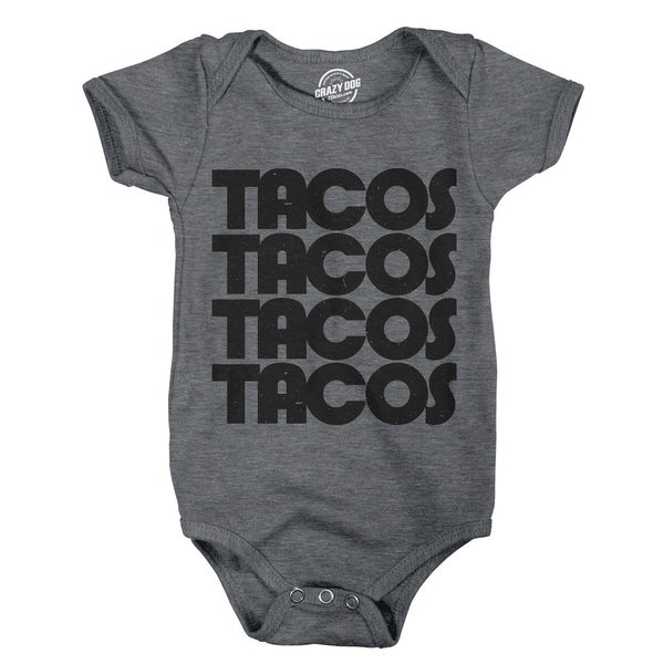 Creeper Tacos Tacos Tacos Funny Mexican Bodysuit for Newborn Baby