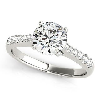 Auriya Classic 2ct Moissanite And Diamond Engagement Ring 1 5ctw 14K Gold