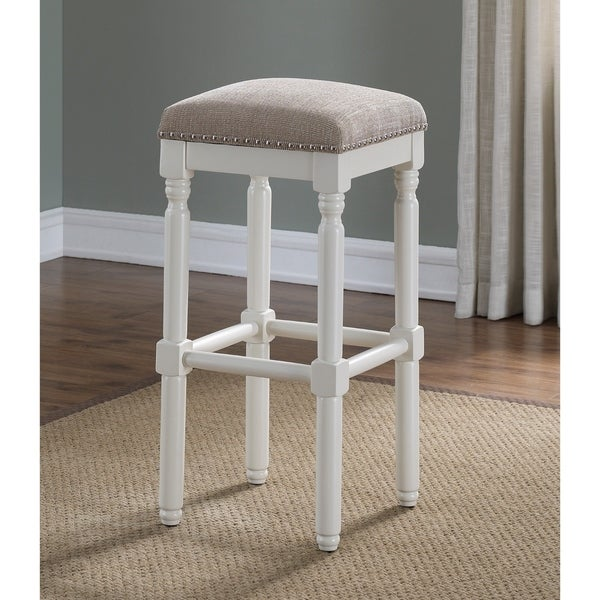 shop ashford white backless counter stool by greyson living as is item free shipping on. Black Bedroom Furniture Sets. Home Design Ideas