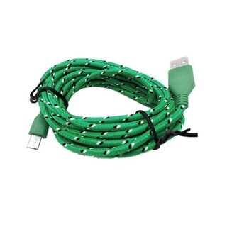 F.S.D Extra Long (10 Ft) Fiber Cloth Sync & Charge USB Android Cable
