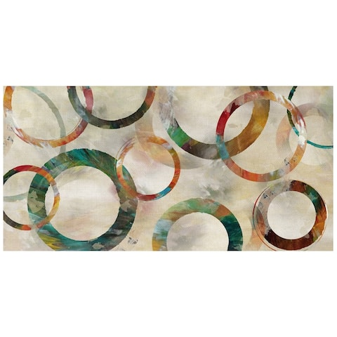 Rings Galore Abstract by Nan Wrapped Canvas Art Print
