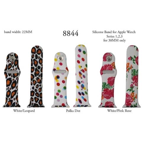 Olivia Pratt Printed Silicone Bands for Apple Watch