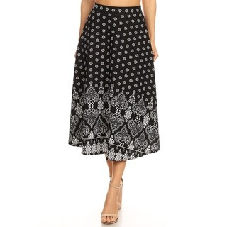 Women's Casual Print Lightweight Midi Skirt