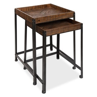 Kate and Laurel Marsh Wood and Metal Nesting Accent Tables (Set of 2)