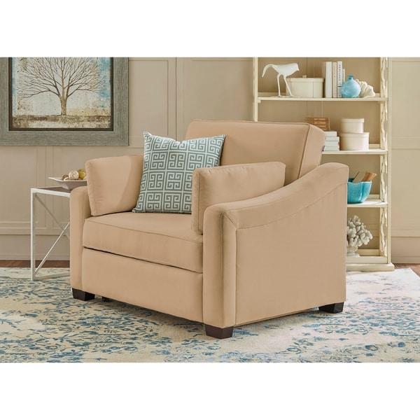 Shop Serta Susanah Dream Convertible Twin Sleeper Chair   Free