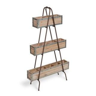 Kate and Laurel Trestan 3-Tiered Display Shelving/Plant Stand