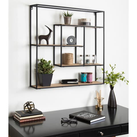 Kate and Laurel Ulna Floating Wall Shelves