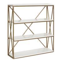 Kate and Laurel Ascencio 4-Layer Wood and Metal Wall Shelves