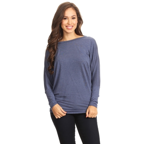 Women's Casual Dolman Sleeve Loose Fit Top