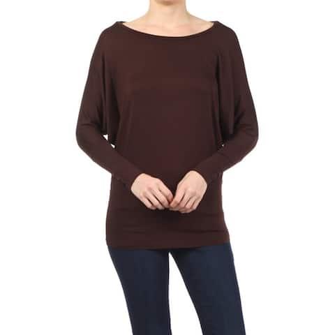 Women's Casual Dolman Sleeve Loose Fit Top