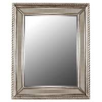 Waverly Antique Silver Finish Resin Floor Mirror