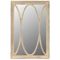 Richard White Resin Wall Mirror