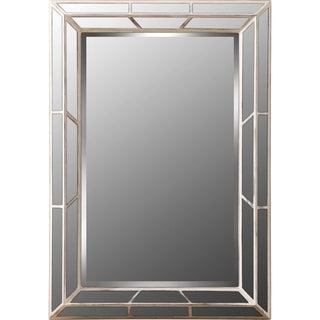 Nicholas Whitewashed Wood-finished Resin Decorative Wall Mirror
