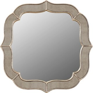Mindy Antique Silver Finish Resin Wall Mirror