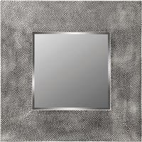Odessa Textured Silver Metallic Resin Square Wall Mirror