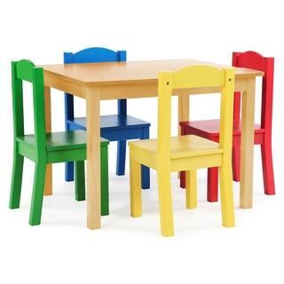 c718267e75648 Tot Tutors Kids Wood Table   4 Chairs