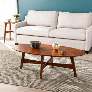 Carson Carrington Ale Oval Mid-century Modern Coffee Table