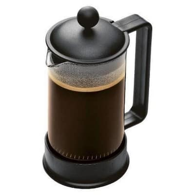 Bodum Brazil French Press Coffee Maker, 3 cup, 0.35L, 12oz, Black