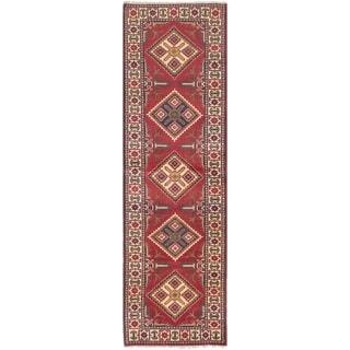 eCarpetGallery  Hand-knotted Finest Kargahi Dark Burgundy Wool Rug - 2'10 x 9'4