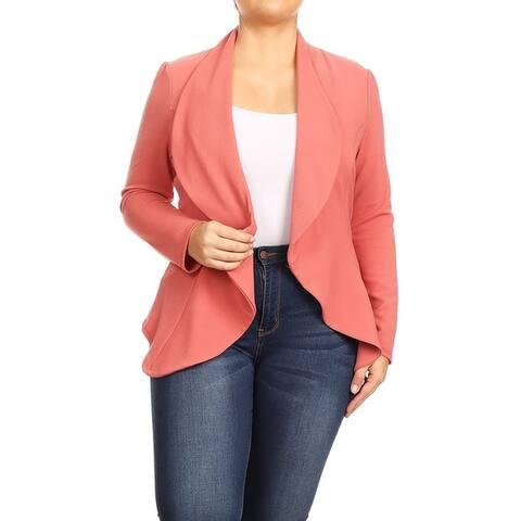 Women's Casual Stretch Comfort Blazer Jacket
